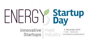 Einladung zum Energy Startup Day - 4. Nov. 2015