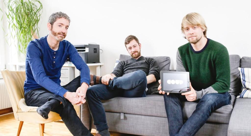 Die drei Coup-Initianten: Andres Eberhard, Joel Bedetti, Pascal Sigg (v. l.). bild: fabian gruber/kasuma.ch