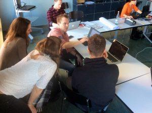 Arbeiten im Newsroom
