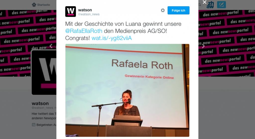 Verleihung des Medienpreises AG/SO 2015