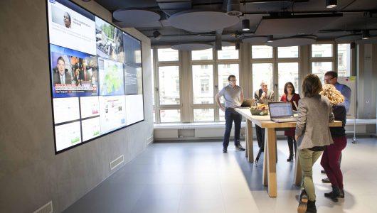 Newsroom Mobiliar (Bild: Mobiliar/Michael Mey)