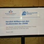 Business School Berlin_Begrüssungsschild