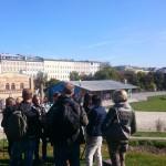 Unsere Gruppe im Görlitzer Park vor dem Restaurant