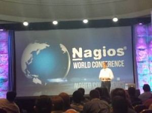 Nagios Founder Ethan galstad presents Nagios Log Server to the audience.
