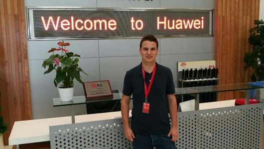 Maco Studer at Huawei headquarters