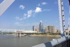Pedestrian bridge over the Ohio river between Cincinnati and Newport Kentucky