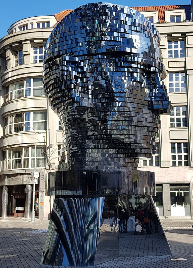 Rotating Statue of Franz Kafka in Prague