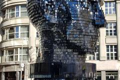 Rotating Statue of Franz Kafka in Prague