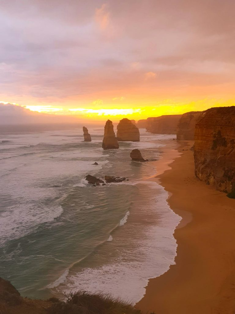 Sonnenuntergang an der Great Ocean Road
