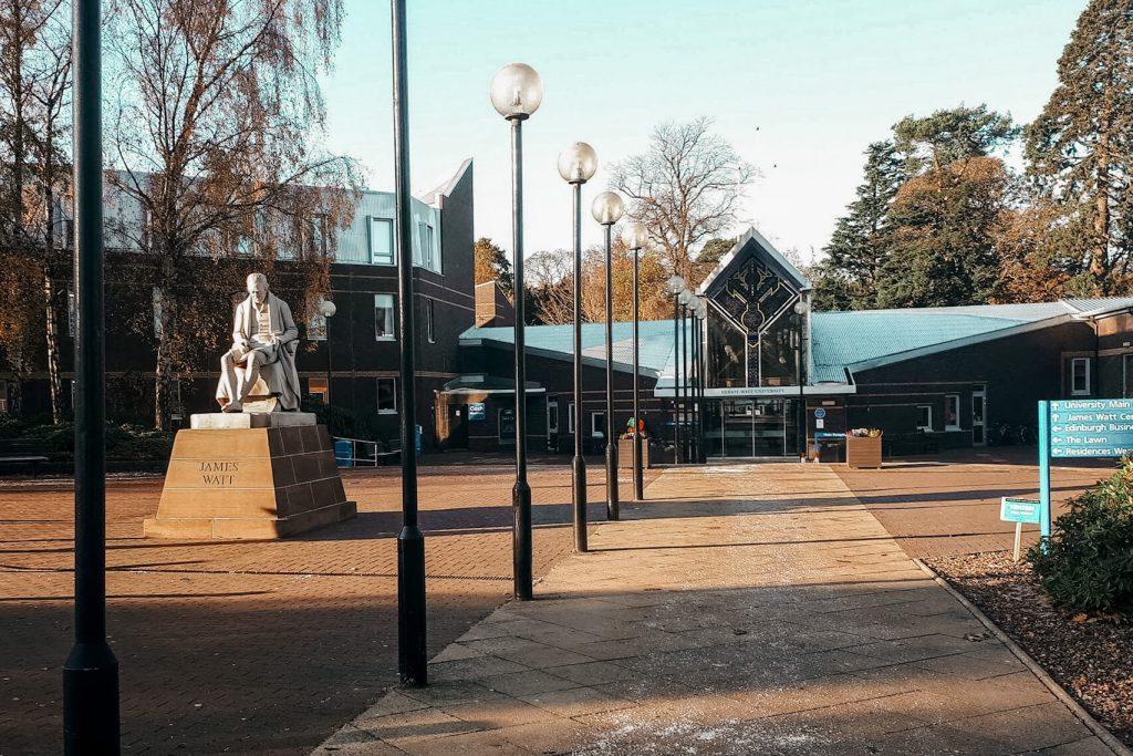 Auslandssemester Edinburgh Heriot-Watt University Eingang