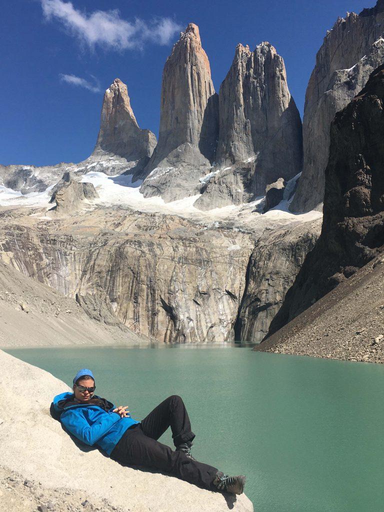 Nicole Reis im Nationalpark Torres del Paine