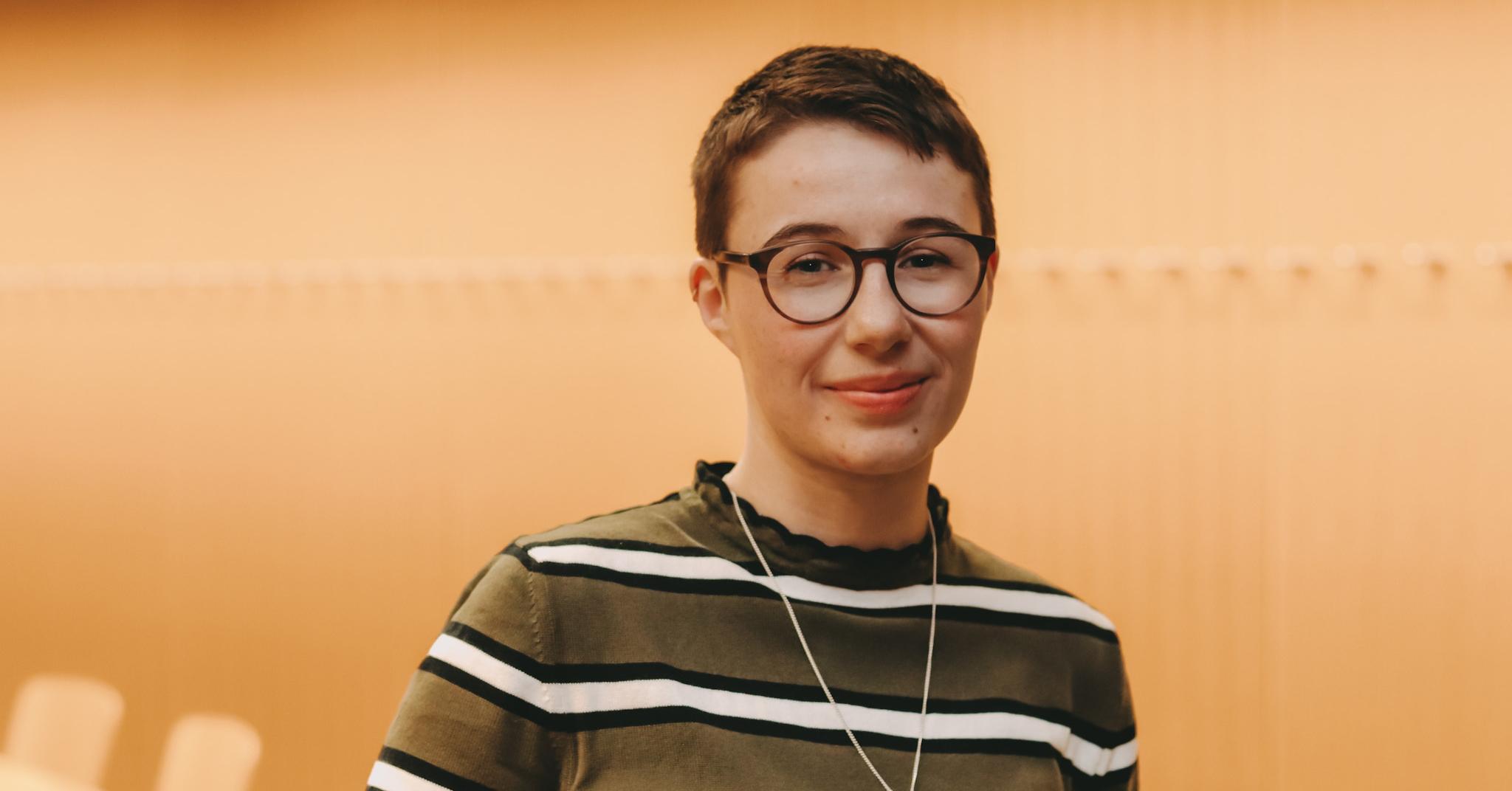 Mirja Barth, Absolventin des Bachelor Angewandte Sprache, Porträtaufnahme