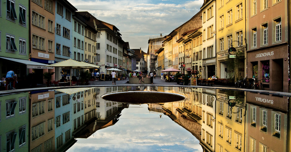 Winterthur Steinberggasse im Sommer