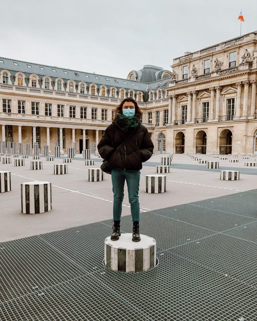 Cheyenne Spycher en semestre à l'étranger à Paris.