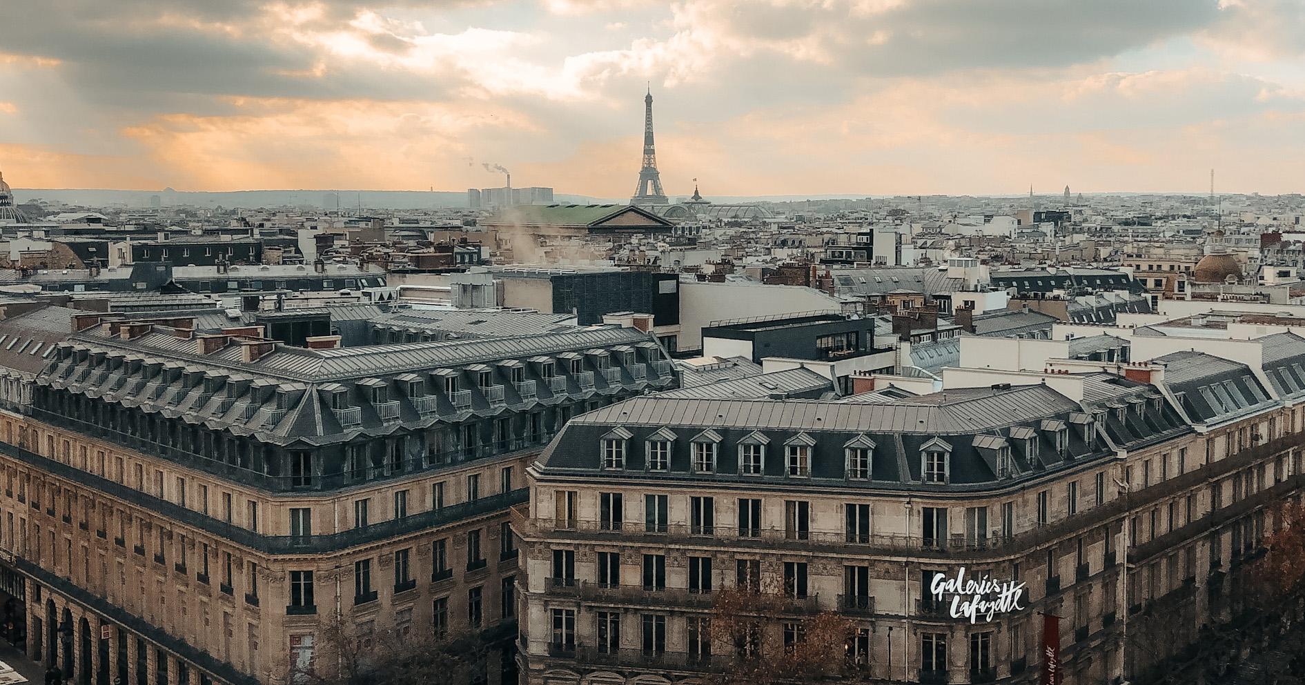 Les galeries La Fayette à Paris.