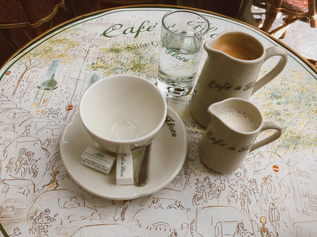 Café au lait au Café de Flore