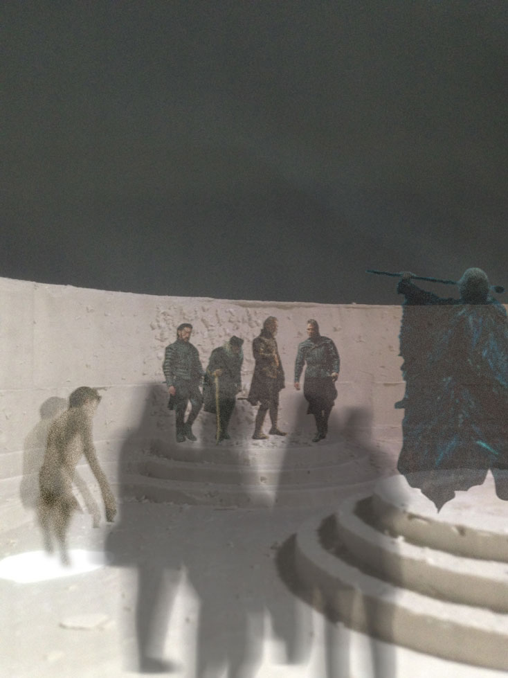 visuelle Simulation einer Bühne