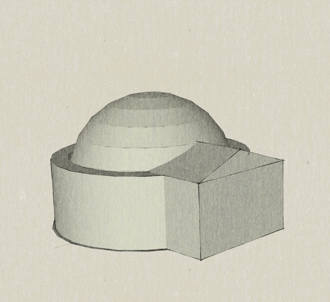 Aussenansicht eines Gebäude-Entwurfs