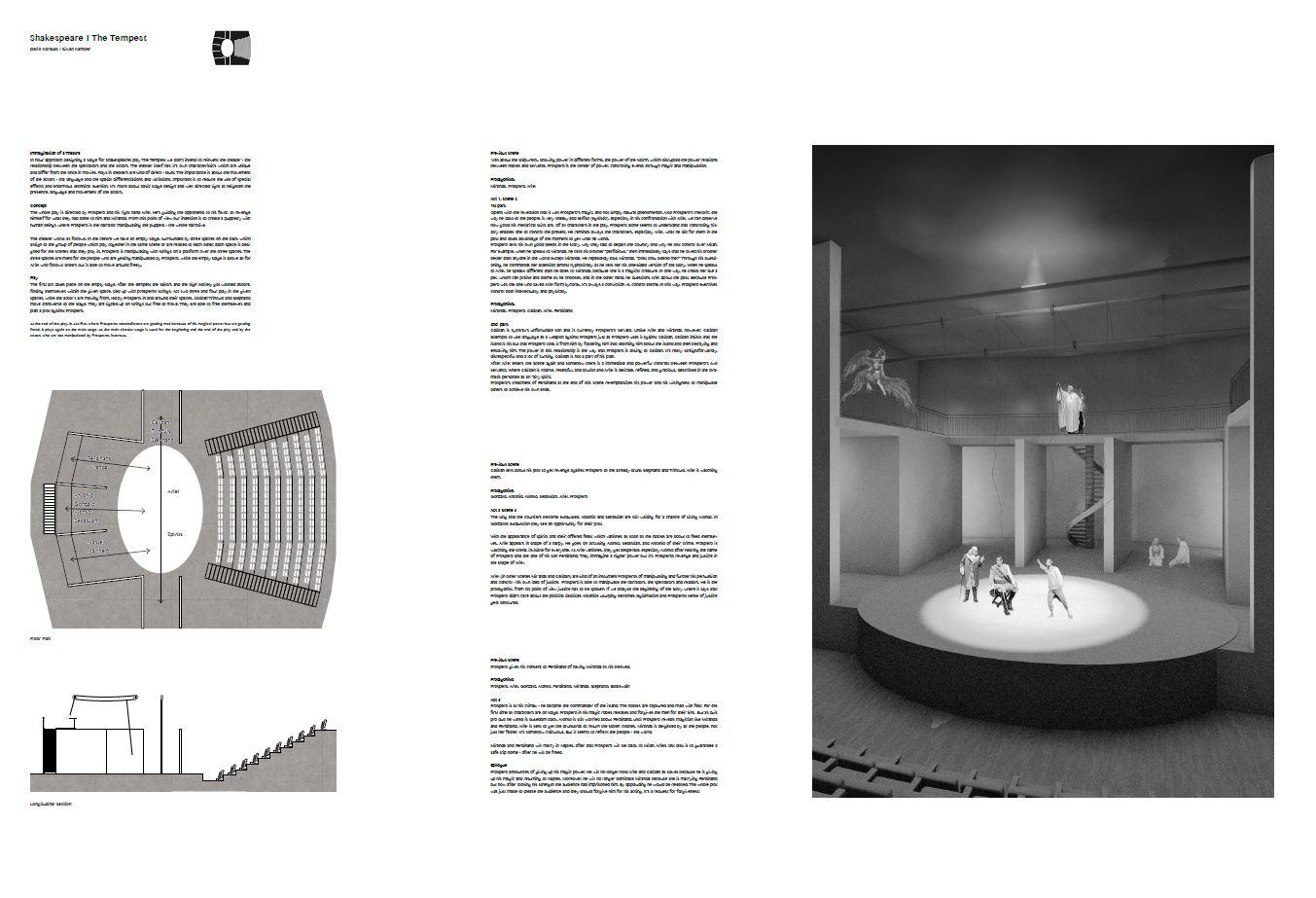 Erläuterung eines Bühnenaufbaus