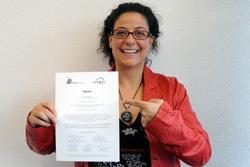 Die Diplomandin Sandra Paradiso