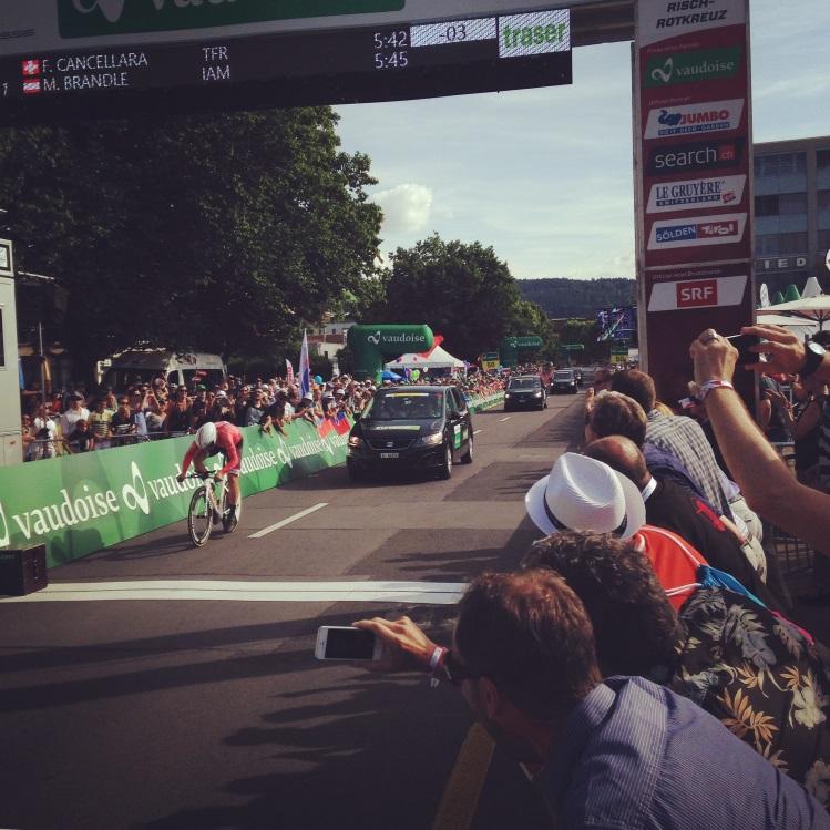 Zieleinfahrt Fabian Cancellara