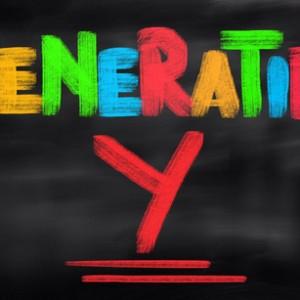 """farbiger Schriftzug """"Generation Y"""""""