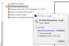 SWITCHdrive Link auf Datei teilen
