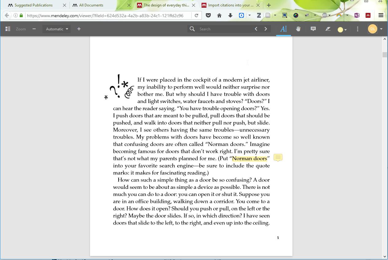 Mendeley Online PDF-Editor