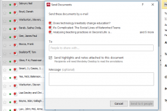 Mendeley Send Documents and Comments