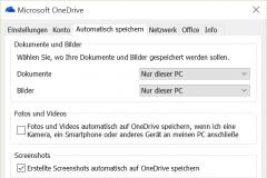 OneDrive Bilder automatisch hochladen