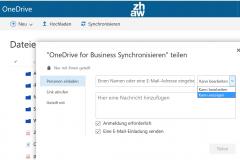 OneDrive Datei freigeben via Web Client