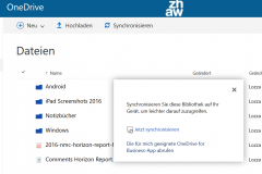 OneDrive for Business Synchronisieren