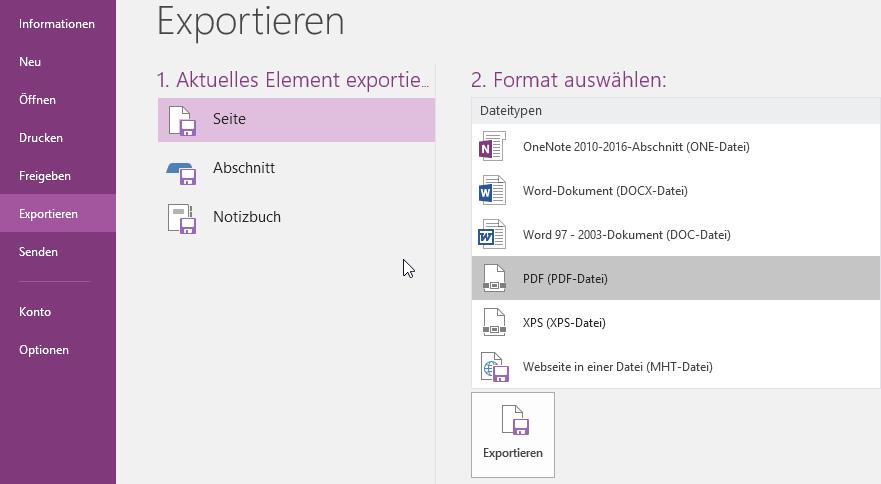 OneNote Export