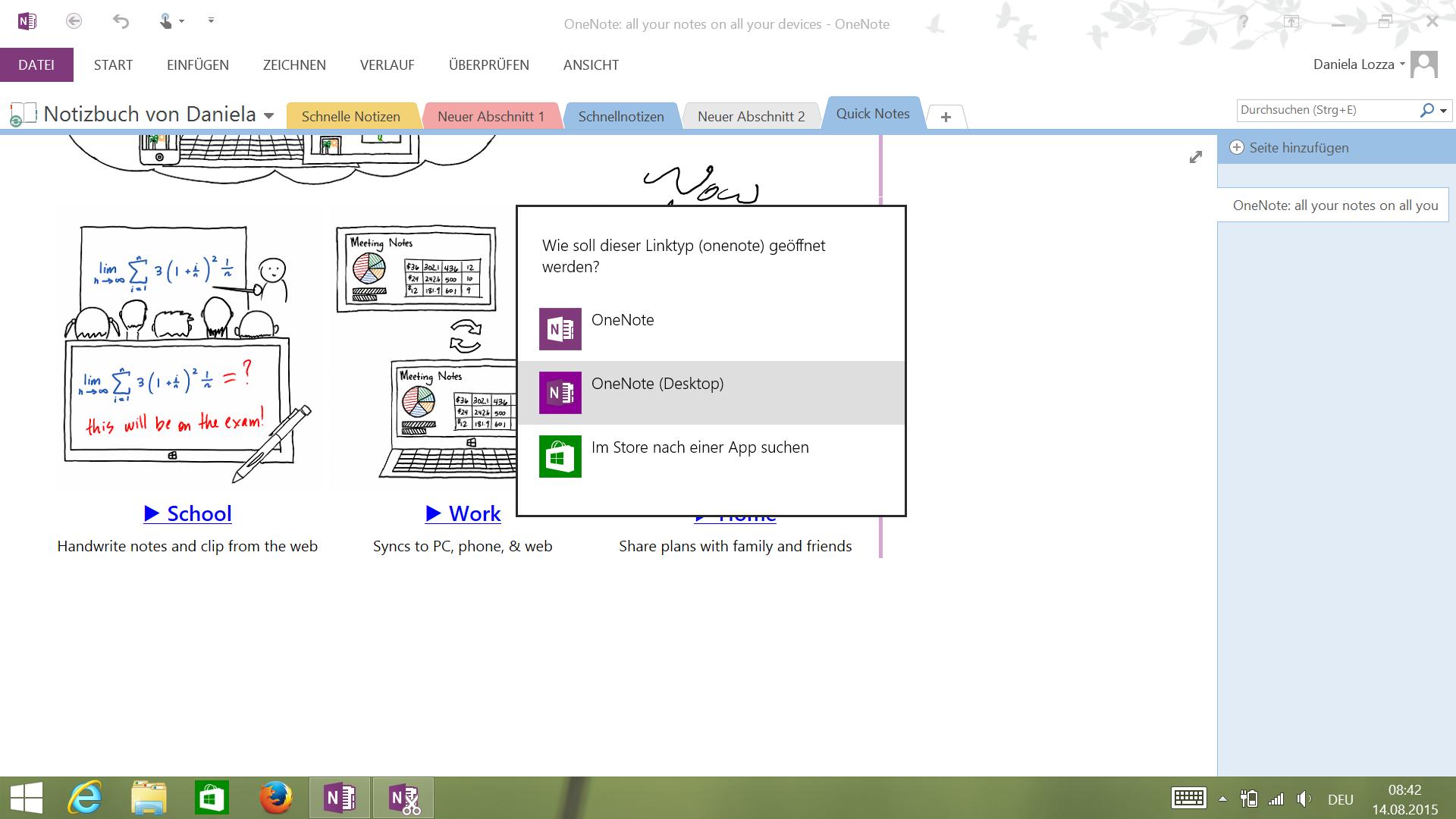 OneNote Desktop vs. OneNote