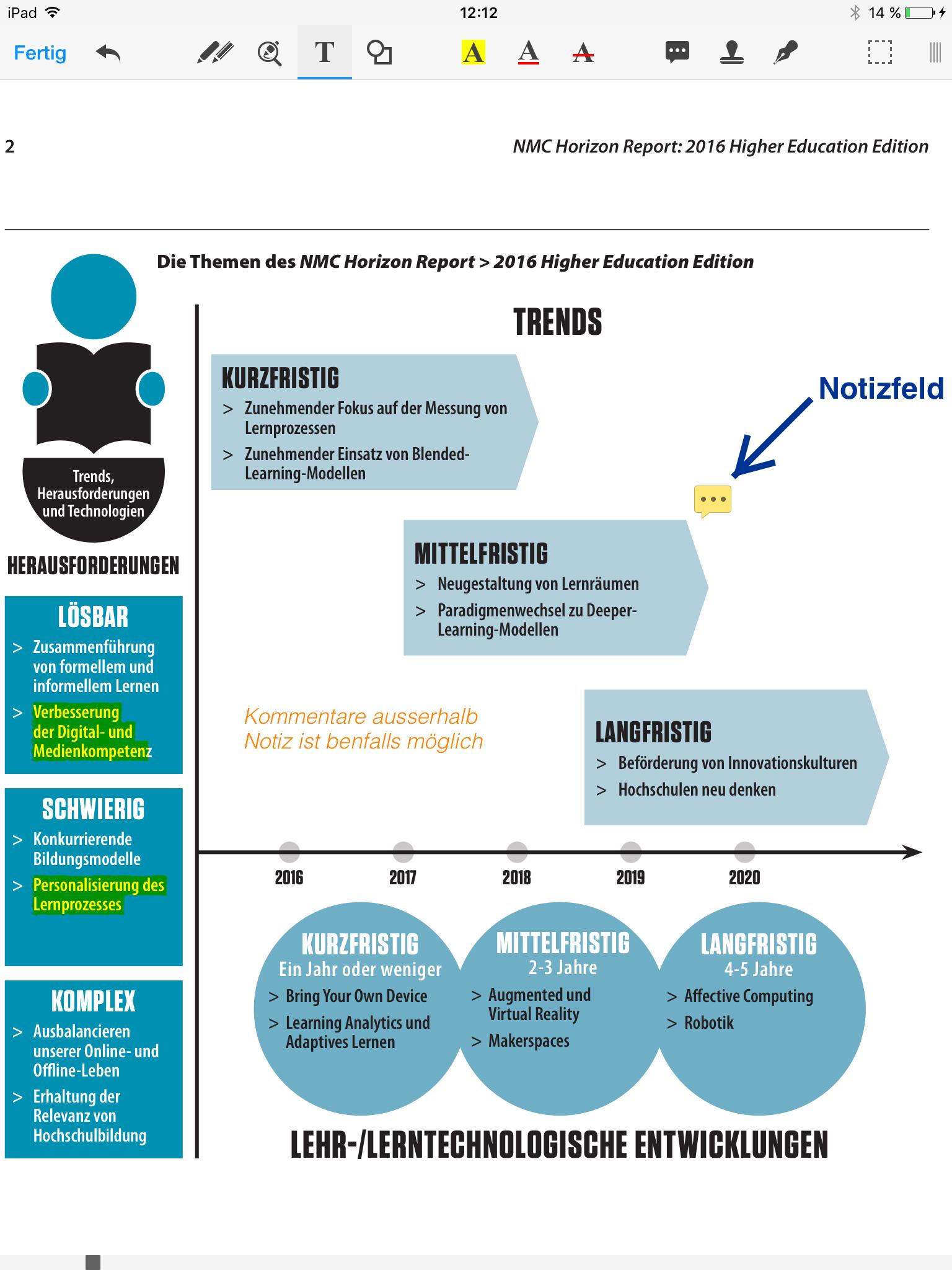 PDF | Projektblog papierloses Studium