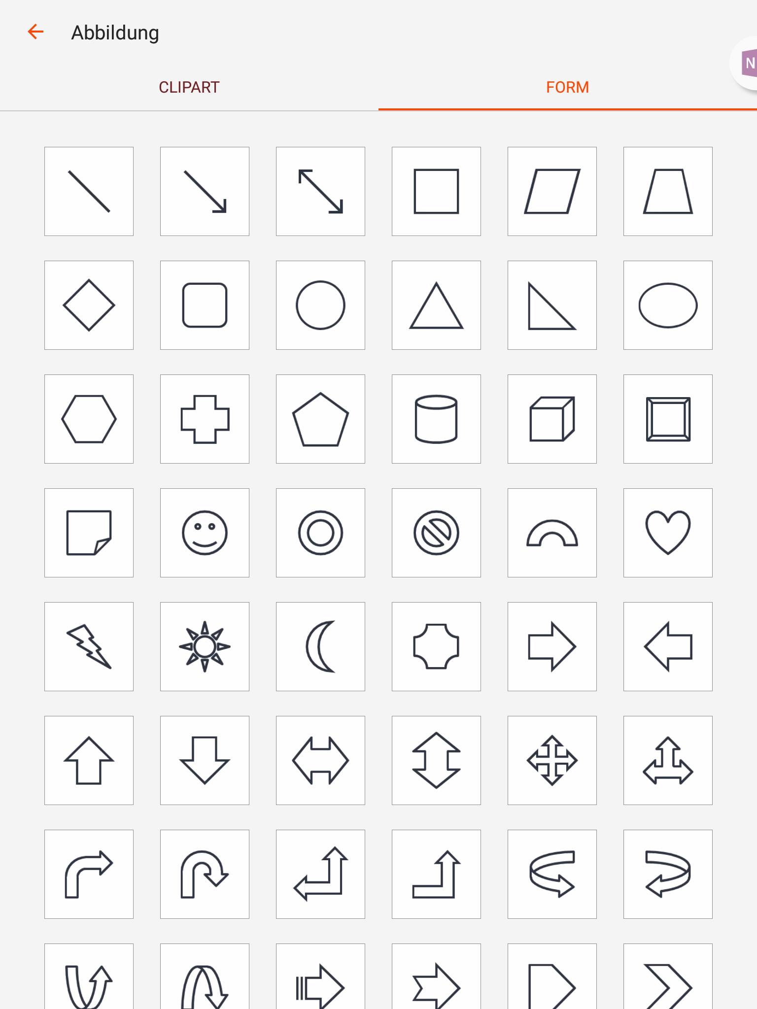 Formen und Cliparts