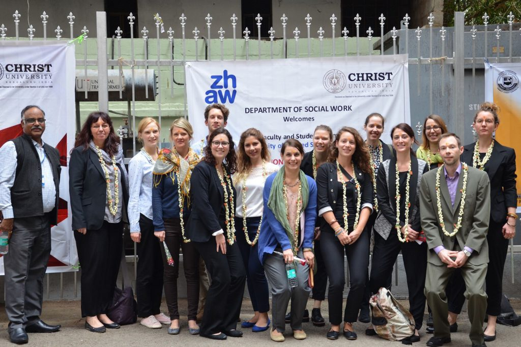Gruppenfoto der Teilnehmenden der Studienreise nach Bangalore, Indien