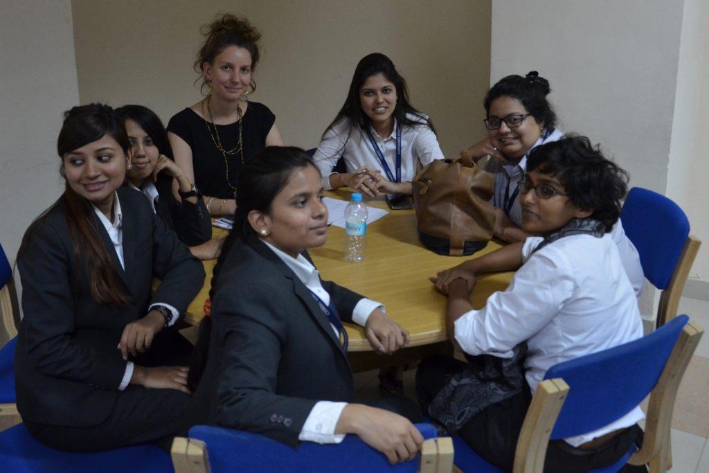 Studierende internationaler Beziehungen der Christ University in Indien
