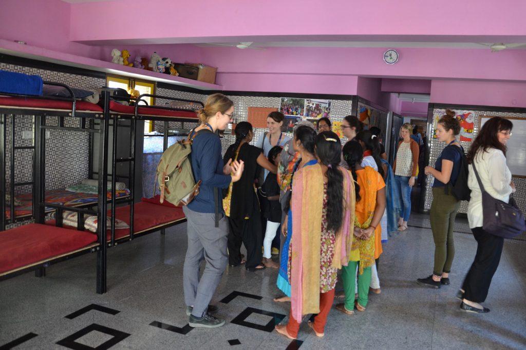 Schlafraum im BOSCO-Haus in Indien