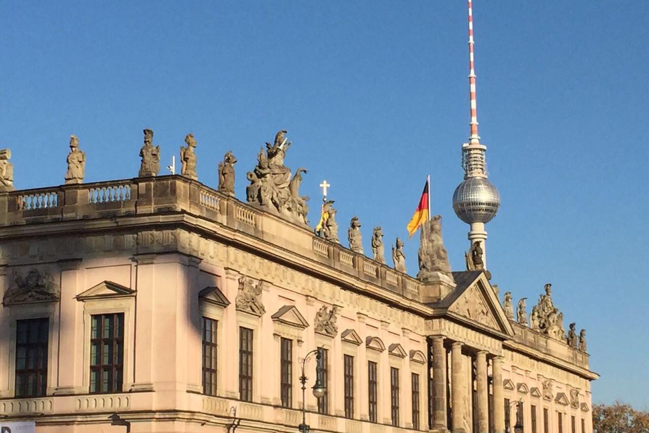 Ansicht des Regierungsgebäudes von Berlin von aussen
