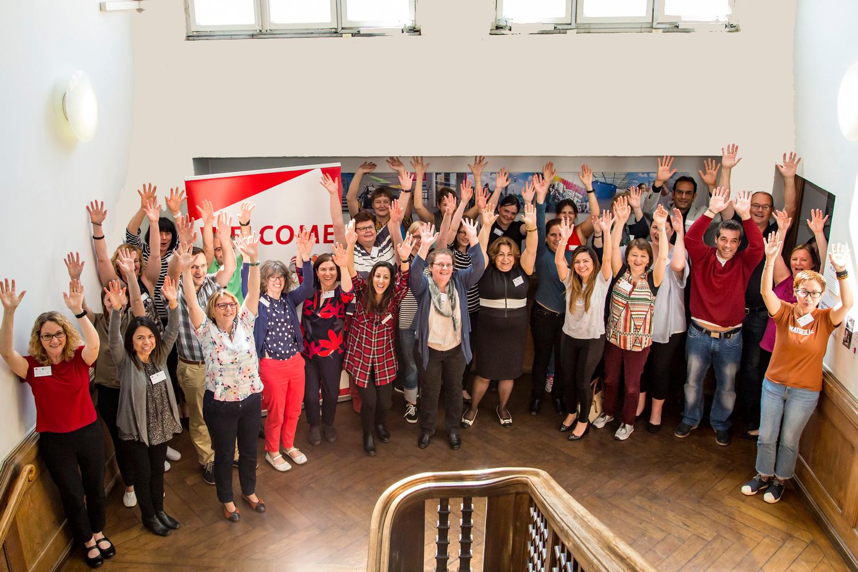 Gruppenfoto der Teilnehmenden der Staff Week in München.