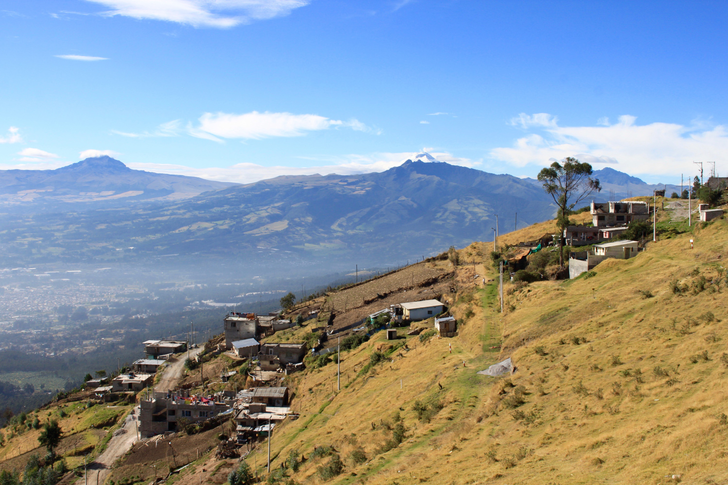 Landschaft in Quito, Ecuador.