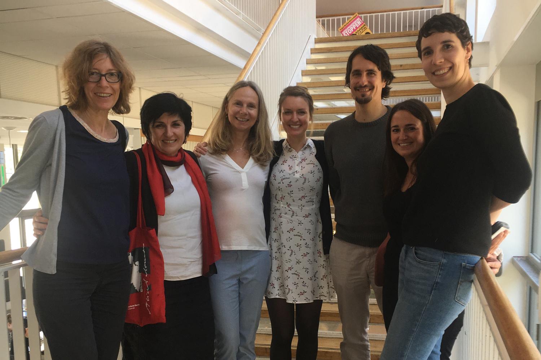 Mitarbeitende des International Office der ASH in Berlin sowie Mitarbeitende der ZHAW Soziale Arbeit in Zürich