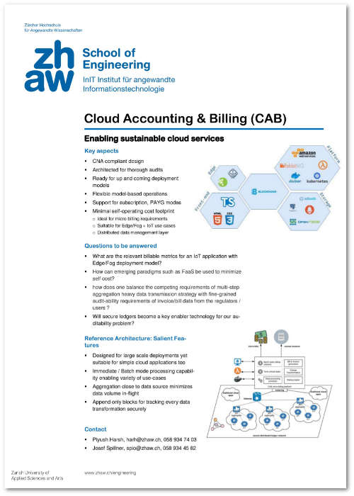 Cloud Accounting and Billing – Service Prototyping Lab