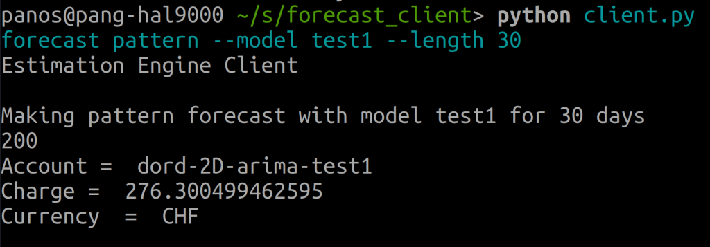 Generation of an activity pattern-based charge forecast with the forecasting CLI