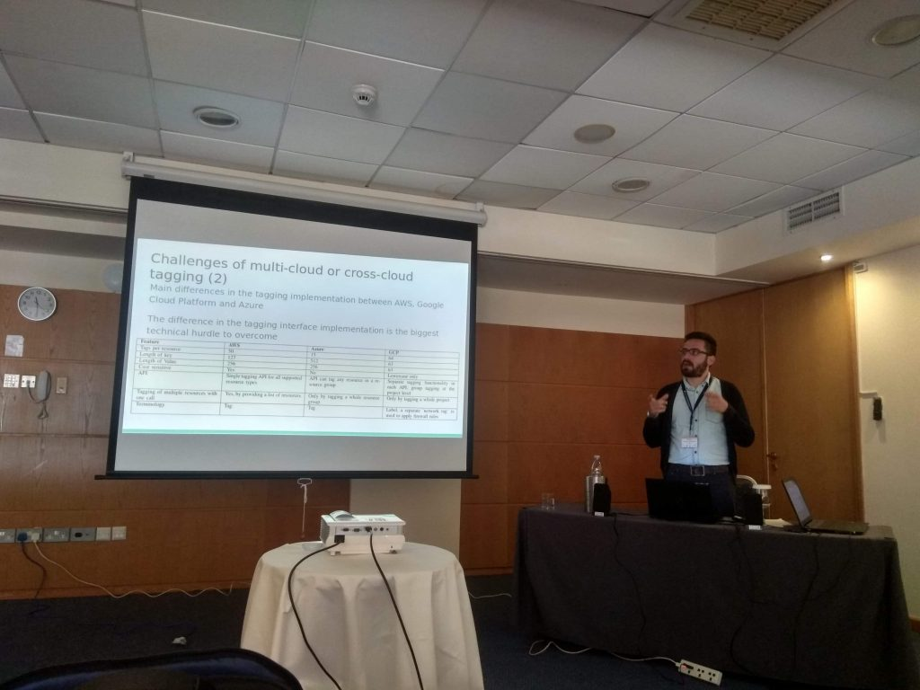 Team member Panos presenting our paper